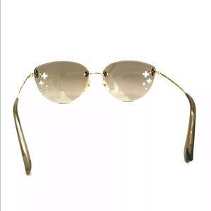 Louis Vuitton Accessories - Louis Vuitton Flower Cut Out Gold Sunglasses: +Box